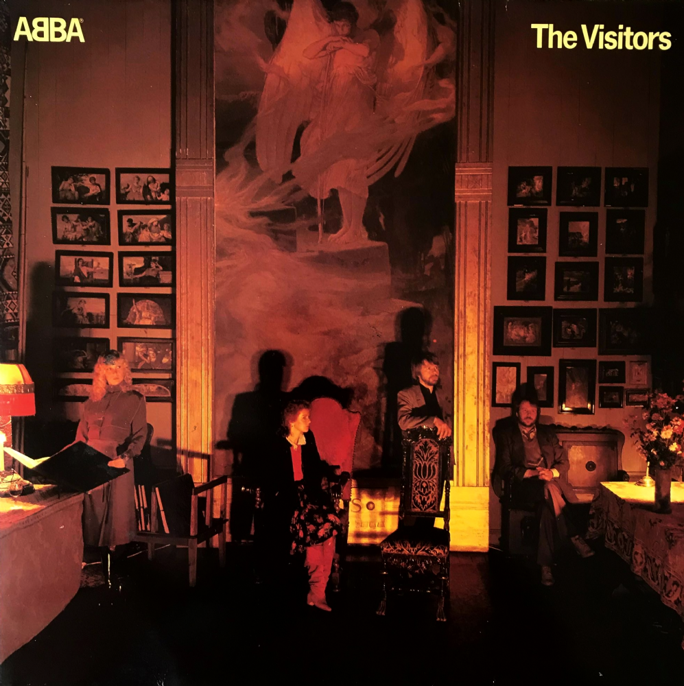 Abba The Visitors Lp Vg Vg